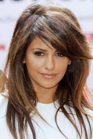 medium length hair with lots of layers length brunette hairstyles pinterest