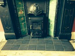 installing a wood burning stove in a victorian fireplace