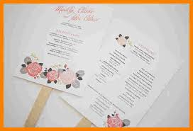 wedding programs template free 8 wedding program fan template monthly budget forms