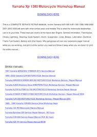 28 1999 2003 yamaha xjr1300 workshop repair manual pdf 38791