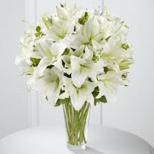 white lilies illinois florist fabbrinis flowers all white lilies 1000