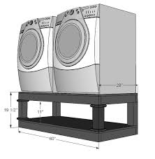 Front Load Washer With Pedestal Diy Washer Pedestal With Storage Dreaming In Pink Boutique Com
