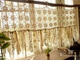 Lace Valance Curtains Vintage Kitchen Valance Boho Crochet Curtain Shabby