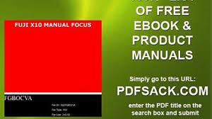 fuji x10 manual focus video dailymotion
