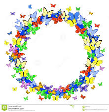 butterfly borders and frames clip art 30