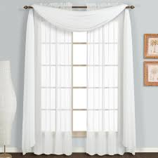 108 Inch Black And White Curtains Amazon Com United Curtain Monte Carlo Sheer Window Curtain Panel