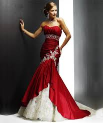 aliexpress com buy custom made red white mermaid strapless