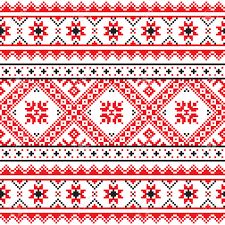 ukraine pattern vector traditional folk knitted red embroidery pattern from ukraine royalty