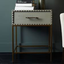 Metal Nightstands With Drawers Captivating Metal Nightstands With Drawers Brilliant Metal
