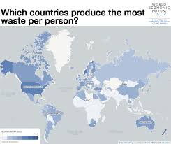 India On The World Map by Which Countries Produce The Most Waste World Economic Forum