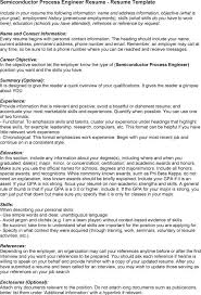 Sample Resume Language by Download Intel Process Engineer Sample Resume