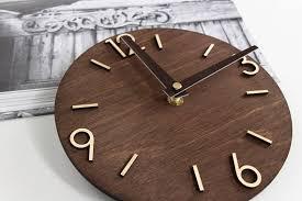 wall clock modern clock wood clock wooden clock wood clock