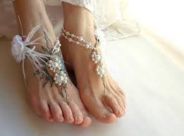 barefoot sandals for wedding wedding day adornments barefoot sandals