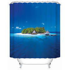 Environmentally Friendly Shower Curtain 2016 Us New Island Waterproof Shower Curtain Bathroom Shower