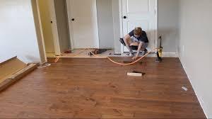 laying hardwood flooring