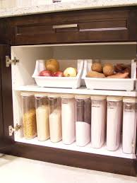 i like this pantry idea of using same sized clear containers for