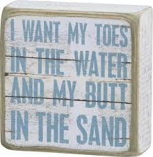 beach signs home decor i want my toes in the water and my in the sand vintage