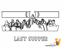 01 last supper jesus bible coloring at coloring pages book for kids gif