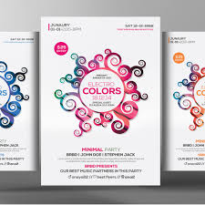 cores flyer poster templates abstract bundle limpo arquivo png