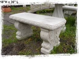 Concrete Patio Tables And Benches Concrete Benches And Tables Baja