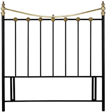designs ancona matt black and antique brass headboard