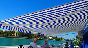 Beach Awning Retractable Awnings Create New Look At Familiar St Pete Beach