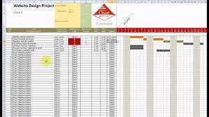 chart gantt excel template demonstration youtube