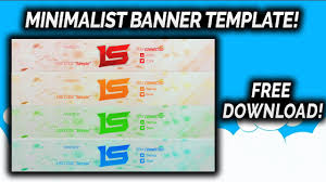 multi color minimalist youtube banner template free download d