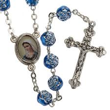 medjugorje rosary medjugorje rosary with blue pvc roses and metal online sales on