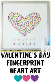 valentine u0027s day decor idea fingerprint heart art not quite