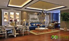 luxurious classic residential living room lighting view yantram