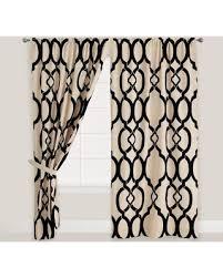 Worldmarket Curtains Bargains On Black Trellis Ethel Flocked Chambray Curtains Set Of