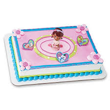 doc mcstuffin cake toppers decopac doc mcstuffins doc and lambie decoset cake
