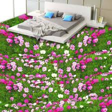 aliexpress com buy custom 3d floor wallpaper flower living room