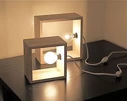 Box For Lights Simple Modern Box L Minimalist Lighting Wood Wooden Square Wall