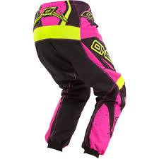 motocross gear set oneal 2017 new mx youth element hi viz pink girls motocross gear