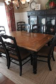 black wooden dining table set paint dining room set black leave top as wood and glass ideas