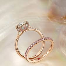 wedding ring gold pink diamond engagement rings hart