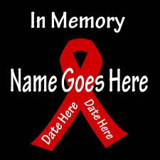 ribbon with names in memory ribbon decal customized with personal names and dates