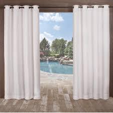 Winter Window Curtains Delano Winter White Heavyweight Textured Indoor Outdoor Grommet
