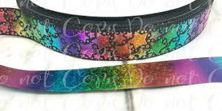 sided ribbon 7 8 rainbow ribbon ribbon black ribbon foil ribbon