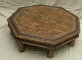 Carved Coffee Table Carved Wood Coffee Table Distressed Teak Wood Opium Legs Coffee
