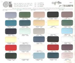 paint charts u2013 triumph club u2013 vintage triumph register