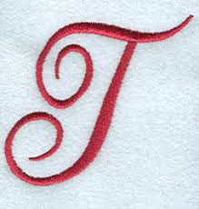 monogram letter t machine embroidery designs at embroidery library embroidery library