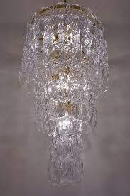 Glass Chain Chandelier Angelo Mangiarotti Style Chandelier Murano Glass Chain Link Gilt