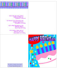birthday cards to print online birthday card best printable
