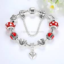 pandora style bead necklace images European pandora style charm bracelets with red hearts murano jpg