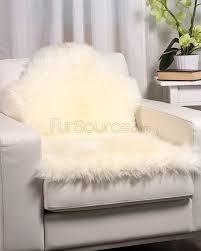 Washable Sheepskin Rug 1 Pelt White Sheep Fur Rug Single Fursource Com