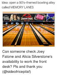 idea open a 90 s themed bowling alley called memory lanes jurassic