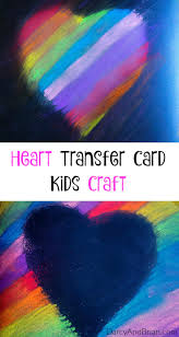 heart transfer mother u0027s day card craft for kids